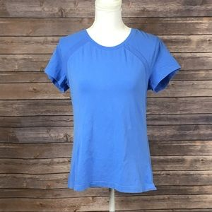 Danskin Now Blue Mesh Detail Athletic Tee